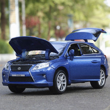 1:32 Free shipping Lexus Rx450 Alloy Diecast Car Model Pull Back Toy Car Model Electronic Car Classical Car Kids Toys