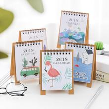 Hand Drawing 2018 Fresh Cartoon Mini Desktop Paper Calendar dual Daily Scheduler Table Planner Yearly Agenda Organizer(China)