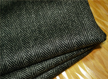 1 meter Italy original high-end dark striped wool cashmere herringbone fashion fabric jacket pants High quality cashmere fabric