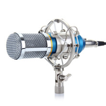 Professional Radio Broadcasting Microphone Condenser KTV Mic BM-800 with Metal Shock Mount For Singing Karaoke PC Laptop Skype