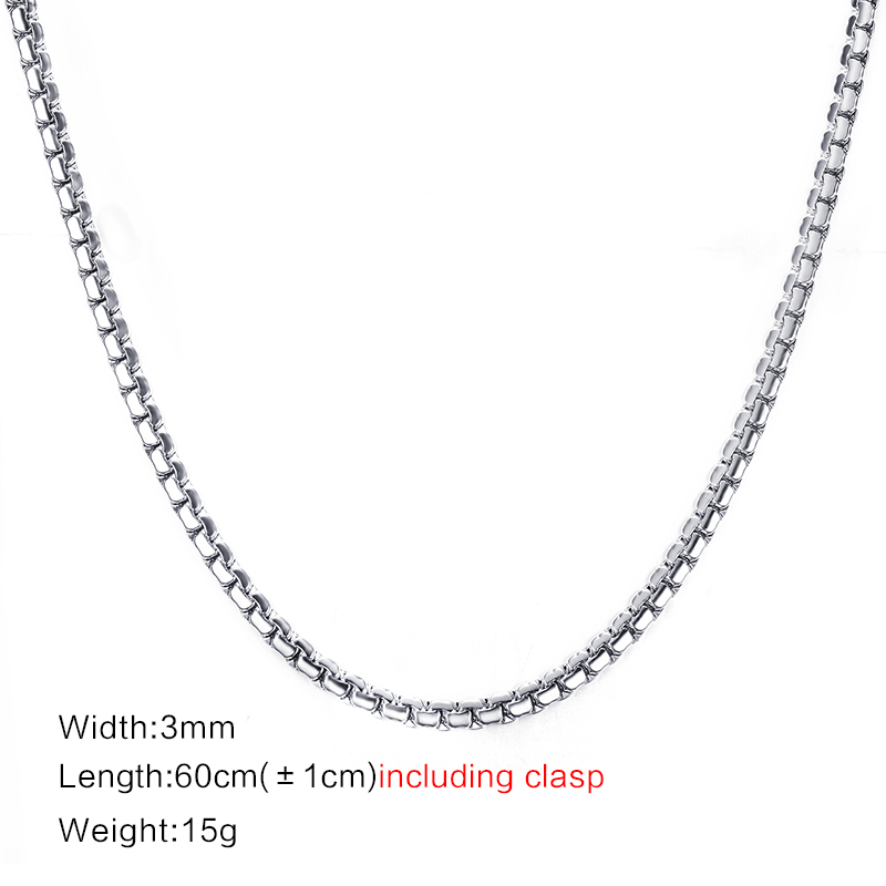 Meaeguet Gold-color Stainless Steel Flat Box Chain Necklaces Rock Men Link Chain Hip Hop Party Jewelry 24 Length (12)