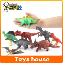8pcs middle size plastic dinosaur toys wild animals zoo toys figure action animal toys Christmas items toys for boys(China)