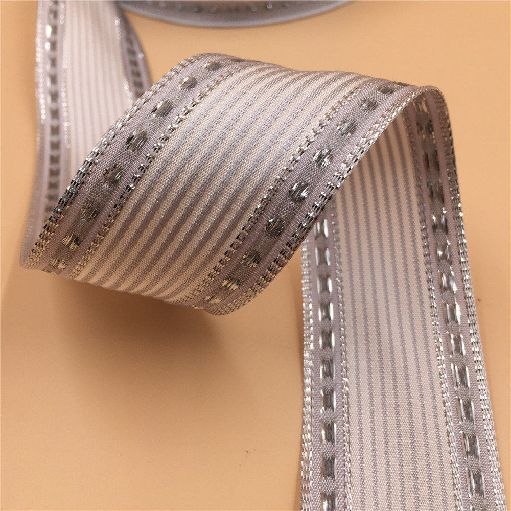 Red Metallic Mesh Craft Ribbon 63mm Wide 1 x 2m Length Gift Wrap