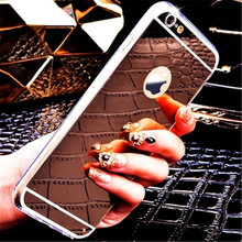 High Quality Soft TPU Fundas For Apple iphone 7 Case 4.7 Electroplating Mirror Cover Luxury For iphone 7 Plus Mobile Phone Bags