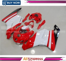 Red And White 2005 2006 749 999 For Ducati Fairing Bodywork With Free Shipping UV Painting Cowling(China)