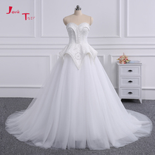 Buy Jark Tozr 100% Real Photo Sweetheart Neck Full Pearls Lace Princess Ball Gown Wedding Dresses 2018 Petticoat Vestido Noiva for $220.04 in AliExpress store