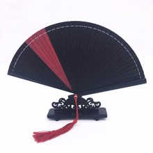 Mini Bamboo Hand Fan Tassel Pure all bamboo Patchwork Japanese Folding Fans for Weddings Women Small Hand held Fan Crafts Gift(China)
