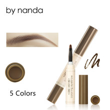 Eyebrow Pencil Fashion Eye Brow Pomade Dye Cream Shade for Eyebrows Long Lasting Waterproof Tint Make up Kit ABH Makeup Brushes(China)
