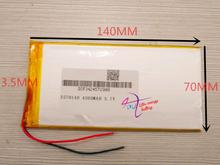 best battery brand Free shipping 3570140 A thin polymeric product Battery Tablet PC digital audio batteries battery 3.7V Navigat(China)