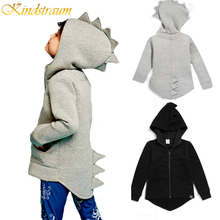 Kindstraum 2017 New Spring & Autumn Boys Jacket Ins Hot Dinosaur Character Casual Hooded Coat Kids Brand 2-7Y Outwear, MC356(China)