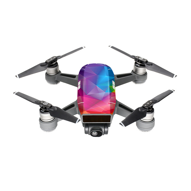 PGYTECH DJI SPARK Carbon Graphic Color Sticker Camouflage Decals Drone Waterproof PVC Body Skin Stickers D3