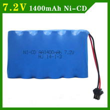7.2v battery 1400mah ni-cd 7.2v AA battery nicd batteries pack ni cd rechargeable for RC boat model car electric toys tank(China)