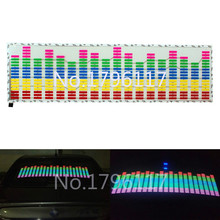 1x Rhythm Music Activated EL Equalizer Car decration Sticker Glow Flash Panel Multi Designs LED car music light 90x25cm
