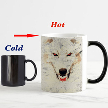 New design Game Of Thrones Dragon Wolf Coffee mug Heat Color changing magic mugs Tea cups winter is coming now