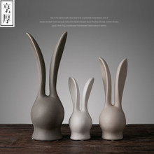2016 Nordic ornaments creative home accessories wedding decoration Desktop Accessories,Rabbit family of three,beautiful gift