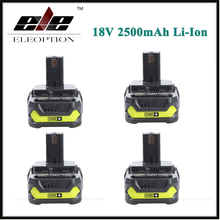 4x 18V 2500mAh Li-Ion Rechargeable Battery For Ryobi RB18L25 One Plus for power tool P103 P104 P105 P108