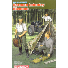 Dragon model 6695 1/35 German Wehrmacht Bivouac (3 Figures Set with Zeltbahn) plastic model kit(China)
