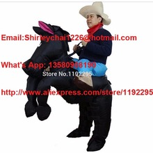 Black Horse Inflatable costume cowboy christmas costume Cosplay Costume for Carnival Rider Cowboy halloween costumes for men
