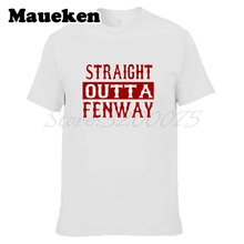 Men Boston Straight Outta Fenway T-shirt Tees Short Sleeve T SHIRT Men's Red Sox Fashion W1203027(China)