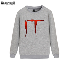 Stephen King's It Horror Movie Harajuku Casual Gothic Hoodies Men Sweatshirt Streetweat Winter Hoodies Men Clothes Wangcangli(China)