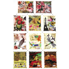 11 Designs Water Transfer Postage Stamp Decal Vintage Flower Butterfly Decorative Stickers Nail Decorations Nail Supplies