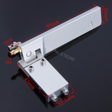 CNC 95mm Water Rudder Absorbing Steering Rudder Cooling With Water Pickup Suction Device for Electric Gas RC Boat Spare Parts