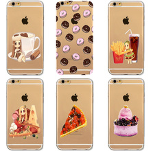 Delicious Food Hamburg Fries Italian Pizza Coke Soft Phone Case For Apple iphone 5 5S SE 5C 6 6S 7 8 Plus Soft TPU Phone Cases