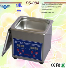 Globe 110V/220V PS-08A 60W small Digital Ultrasonic Cleaner 1.3L for glasses ,,razor, Jewellery Clean free basket(China)