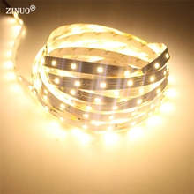 ZINUO 5M 10M 15M 20M 25M LED Strip light 2835 RGB 5M/Roll 300Leds Flexible LED Tape Ribbon High Luminous Warm White Blue Green(China)