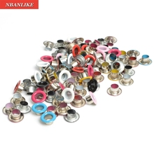 Scrapbook Eyelet Random Mixed Color Metal eyelets For Scrap booking DIY embelishment garment clothes eyelets For Clothes Deco(China)