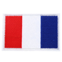 France French Eu Country Flag Clothes Patch DIY Flowered Embroidered Patches Iron on Fabric Badge for Cloth Applique