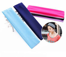 Casual Candy Colors Stretchy Headband Stretch Cotton Hairband for Women