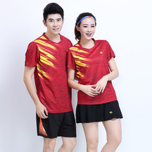 Adsmoney Brand new tennis shirts (T-shirts + shorts), men/women's badminton suits, breathable, fast dry, tennis clothes