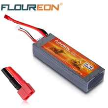 FLOUREON Lipo 2S 7.4V 5200mAh 30C Rechargeable Battery Pack Dean T Connector with Hard Case for RC Truck Car Helicopter Boat