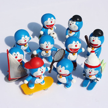 10Pcs/set Doraemon Figures Sports Movement PVC Figure Toys Collectable Model Dolls 5CM Approx(China)