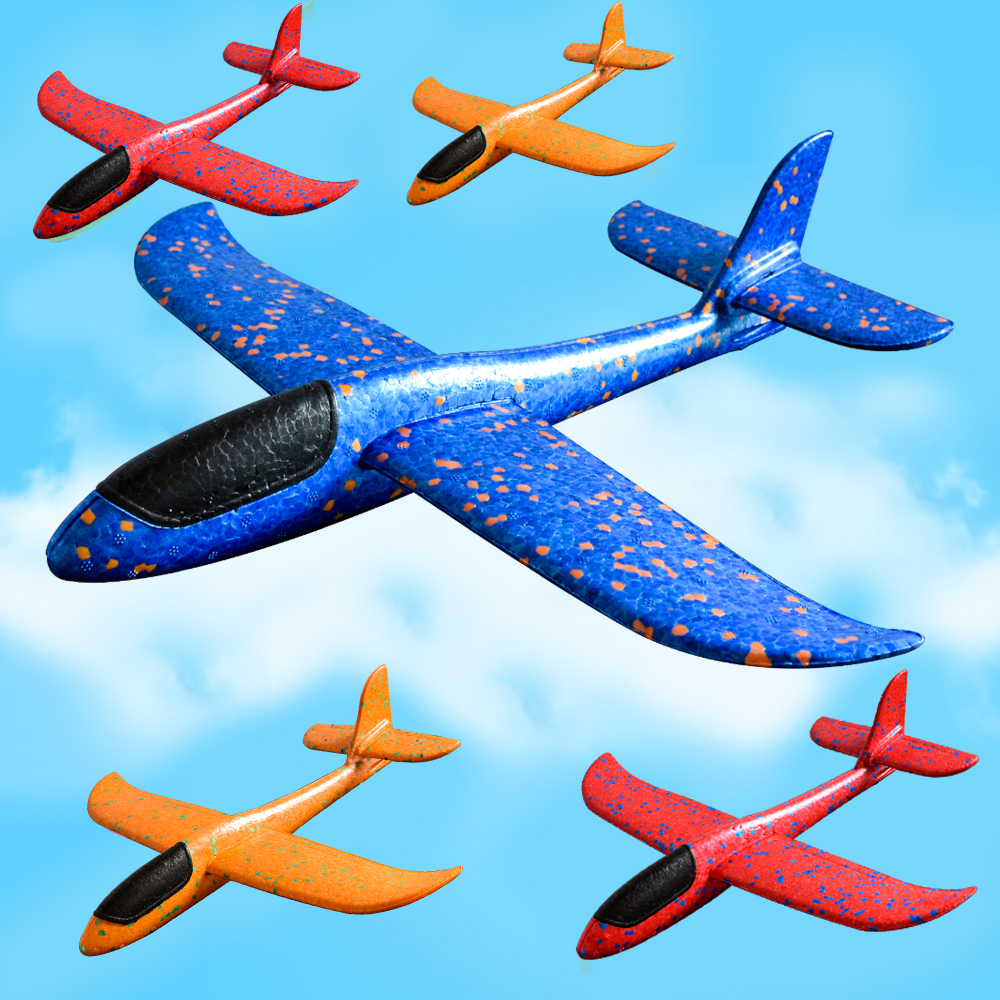 2018 DIY Hand Throw Flying Glider Planes Toys For Children Foam Aeroplane Model Party Bag Fillers Flying Glider Plane Toys Game(China)