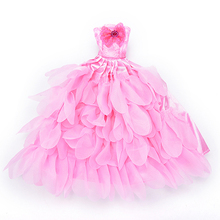 Evening Dress For Barbie Doll Wedding Dress Furniture For Dolls Puppet Clothes For Barbie Dolls Accessories(China)
