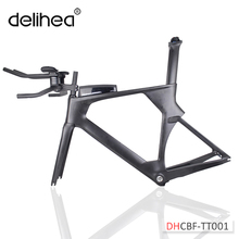 2018 new AERO version Triathlon Bikes 49/52/54/56cm light Carbon time trial Frame TT001 Chinese BICICLETA Carbon TT Frame(China)