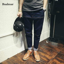 Baalmar Fashion Black Jeans Men Original Brand Jeans Ripped Denim Trousers Men`s Jeans High Quality Brand Male Jeans Homme(China)