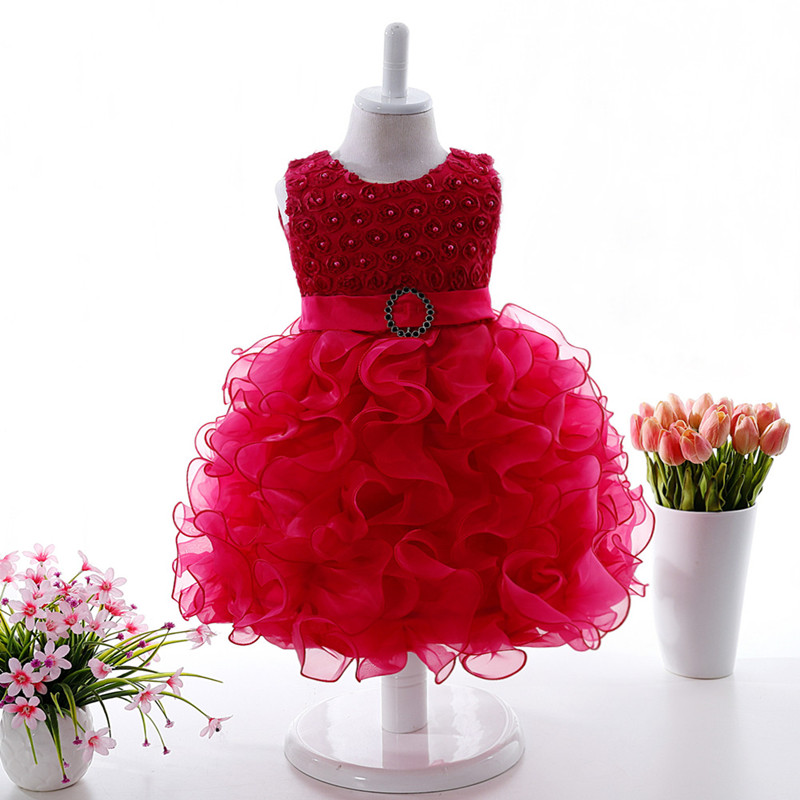 on sale!! Baby Kids Girls Dresses Formal Prom Party Ball Gown Little Bridesmaid Wedding Children Tutu Dress Girl 0-2 Years<br><br>Aliexpress