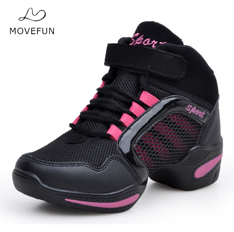 MoveFun Brand Dance Latin Shoes Women Hot Sale Feature Soft Outsole Breath Dance Shoes for Woman Modern Sneakers Jazz Women-11