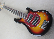Tobacco Sunburst 6 Strings Electric Bass Guitar with 20 Frets,Red Tortoise Shell Pickguard,Rosewood Fingerboard,Offer Customized