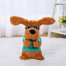 28cm 6 Songs Baby Plush Dog Musical Interactive Soft Dolls Toy For Children Kawaii Sing and Play Stuffed Animals Electric Toys(China)