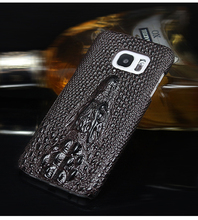 Luxury Soft 3D Crocodile Skin Top PU leather Back Cover Hard case For Samsung Galaxy S7 S6 S7 Edge S6 Edge Plus Phone cover