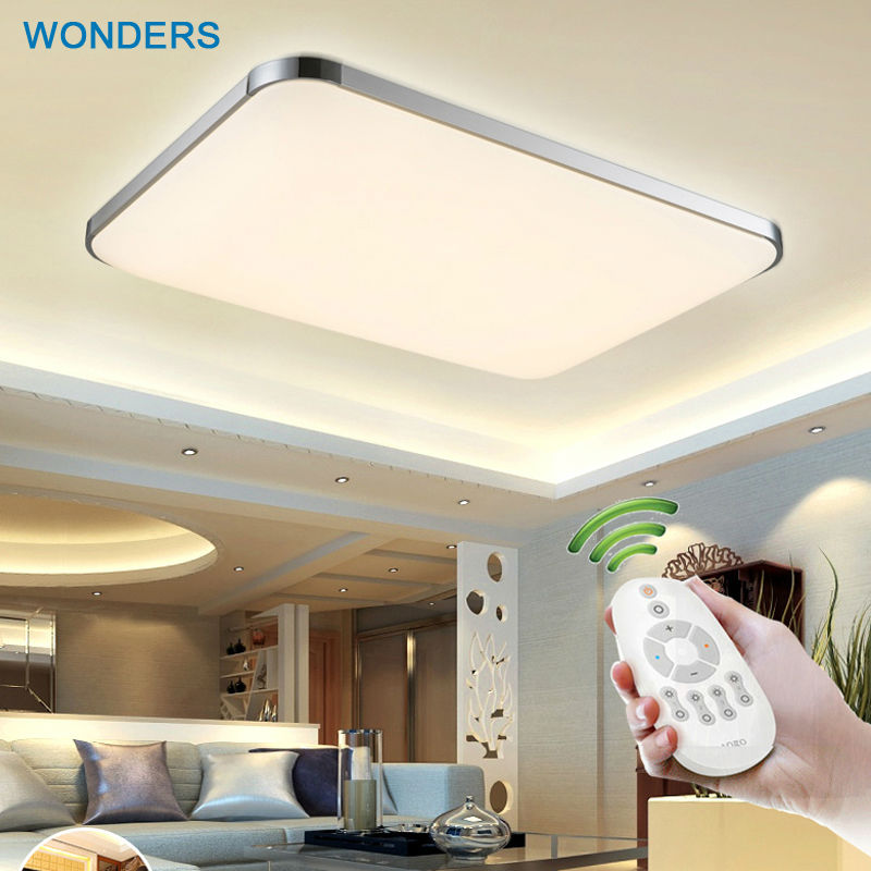 Popular contracted Ceiling lights indoor lighting led luminaria abajur modern led ceiling lights living room Bedroom RC control<br><br>Aliexpress