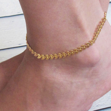 Hot Sale Brief Design Women Gold Barefoot Coin Ankle Chain Anklet Bracelet Foot Jewelry Sandal Beach Anklet