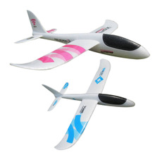 Baby Kids EPP Foam Handmade Throwing Flying Aircraft Airplane Glider Educational Creative Children Puzzle Model Toys Randonly(China)