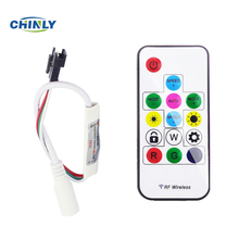 DC5V/12V 14key Mini-RF wireless remote controller for led strip WS2811/WS2812B/WS2813,can control 2048pixel,300 kinds mode(China)