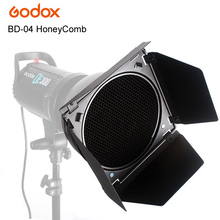Studio Flash Strobe Honeycomb Barn Door Grid with 4 Colors Filter Gels Kits for Godox TC series #BD-04
