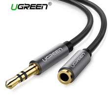 Ugreen Jack 3.5mm Audio Extension Cable Male to Female Aux Cable 1m 2m 3m 5m Headphone Extension Cable for iPhone 6 6s PC Phone(China)